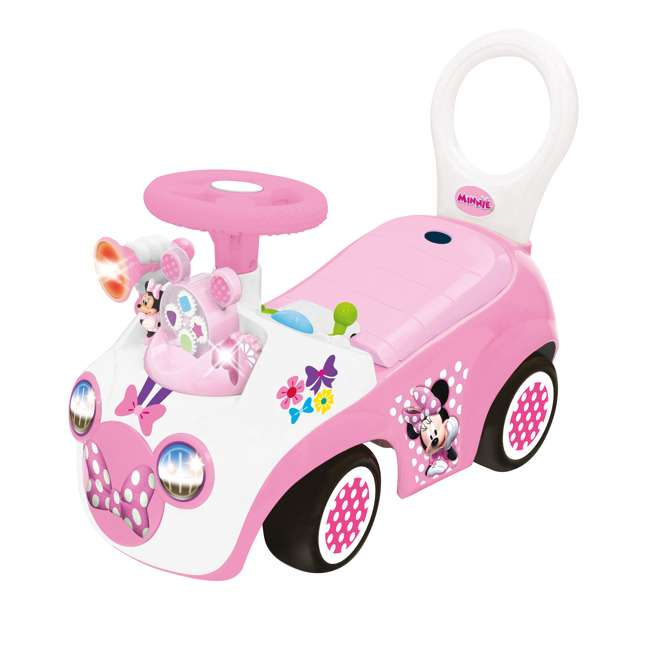 048280 Kiddieland Minnie Mouse Activity Gears Ride-On Car, Pink