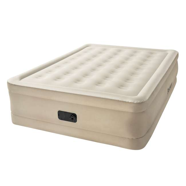 "69025E-BW-U-B Bestway Fortech 20"" Inflatable Queen Airbed Air Mattress w/ Built-In Pump (Used) 1"