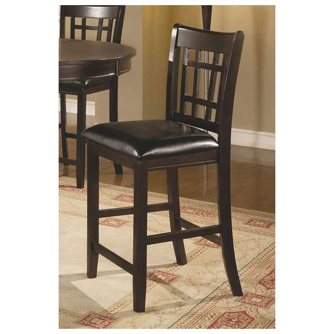 3 x 102889ii-PAIR Coaster Home Furnishings Lavon Hardwood Bar Stool, Black and Espresso (6 Pack) 5