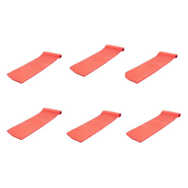 6 x 8070048 Texas Recreation Serenity Raft Float, Caribbean Coral (6 Pack)
