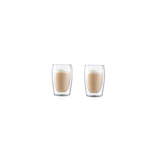 4-CUP-10OZ-2 Medelco 4-CUP-10OZ-2 Cafe Brew 10 Oz Double Wall Dishwasher Safe Glasses Set