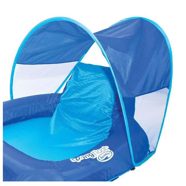 4 x 13022 SwimWays Spring Float Recliner with Canopy (4 Pack) 4