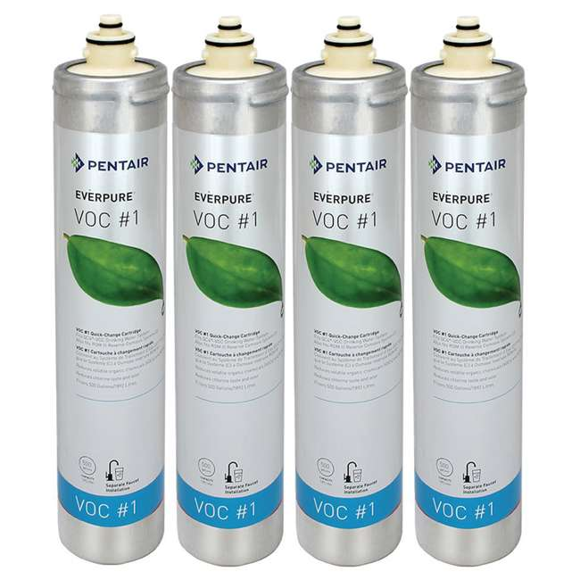 4 x EV927379 Everpure VOC 1 500 Gal. Kitchen Sink Water Filter Replacement Cartridge (4 Pack)
