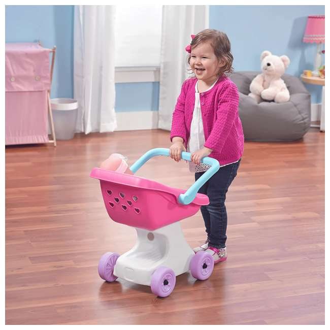 854100 Step2 Love & Care Baby Doll Kids Push Stroller Toy, Pink 1
