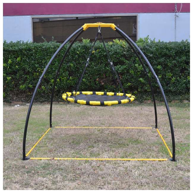 JKBKUFO-V2-U-A Jumpking Backyard 360 Degree Adjustable Height UFO Swing Set, Yellow (Open Box) 1