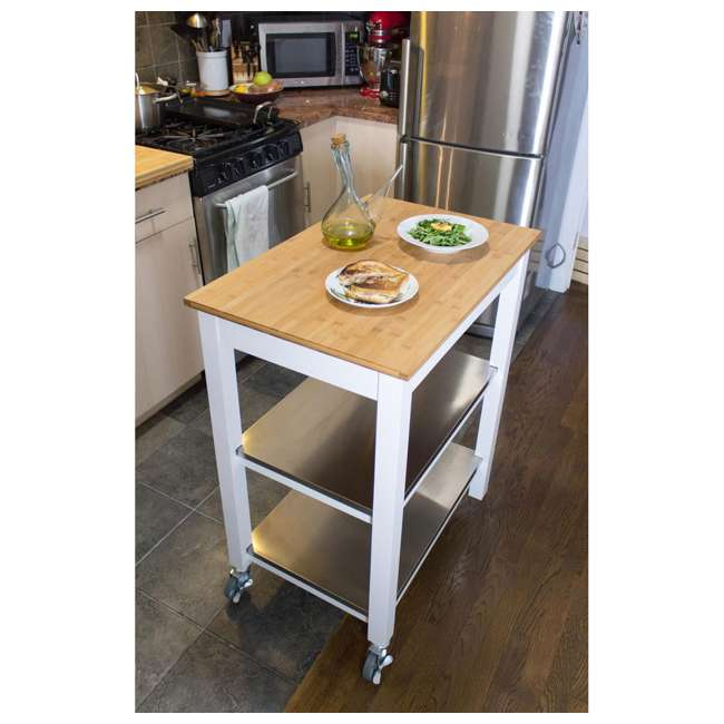 CSK-850 SpaceMaster Kitchen Cart with Bamboo Chopping Block  3