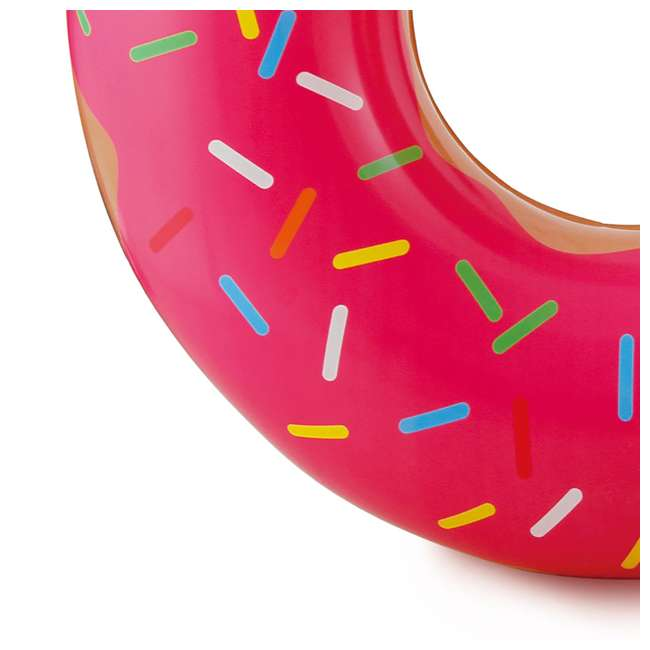 3 x K10427000167-U-A Summer Waves Chocolate or Pink Donut Inflatable Pool Float (Open Box) (3 Pack) 6