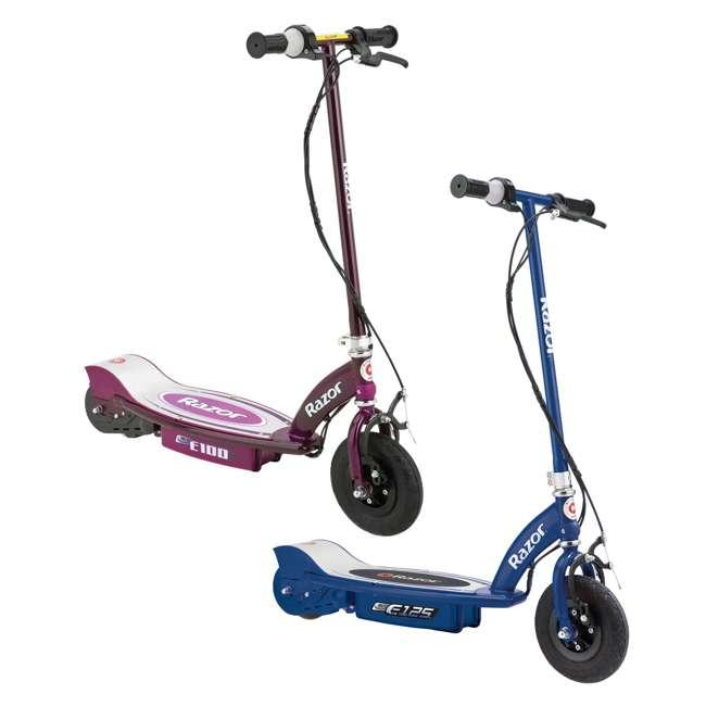 13111141 + 13111250 Razor E125 Motorized 24-Volt Rechargeable Electric ScooterRazor E100 Electric Scooter, Purple