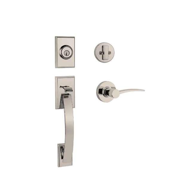 98001-376 Obsidian Keyless Electronic LED Touchscreen Deadbolt Door Lock, Satin Nickel