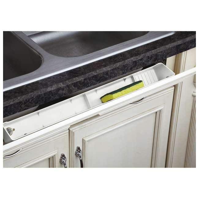 LD-6591-22-11-1 Rev-A-Shelf LD-6591-22-11-1 22 Inch White Polymer Lazy Daisy Sink Tip Out Tray 1
