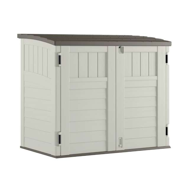 3 x BMS2500 Suncast Horizontal Storage Shed Stow Away, Ivory (3 Pack) 1