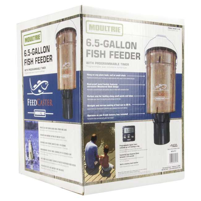 MFHP60057 Moultrie 6-Gallon Automatic Pond Fish Feeder 6