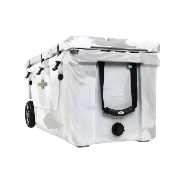 HC75-17W WYLD 75 Quart Pioneer Dual Compartment Insulated Cooler w/ Wheels, White/Grey 3