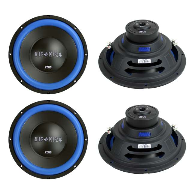 Hifonics ZW12D4 Zeus 12-Inch 600W Dual 4-Ohm Power Subwoofers (4-pack)