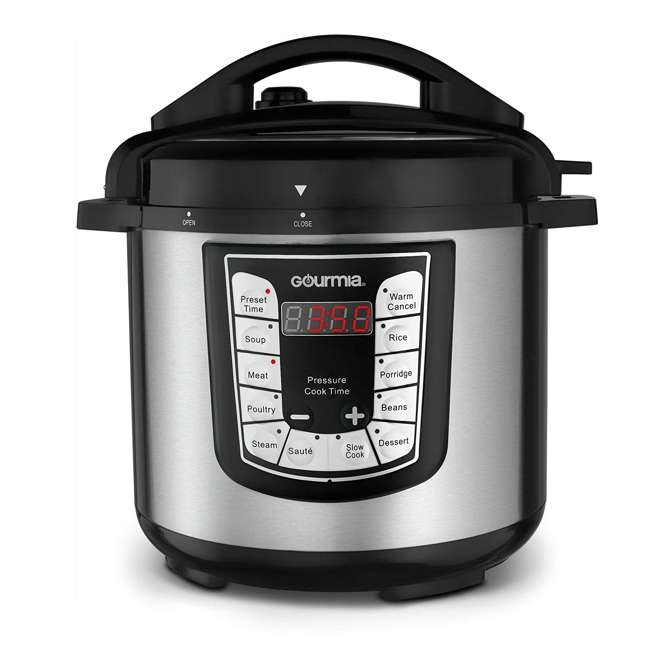 GPC625 Gourmia ExpressPot Digital Multi-Function 6 Qt. Pressure Cooker, Stainless Steel
