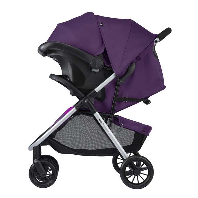 56311987 Evenflo Folio Tri Fold All in 1 Reliable Durable Baby Travel System, Blackberry 3