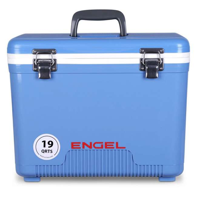 4 x UC19B Engel 19-Quart Dry Box Cooler with Shoulder Strap, Arctic Blue (4 Pack) 1