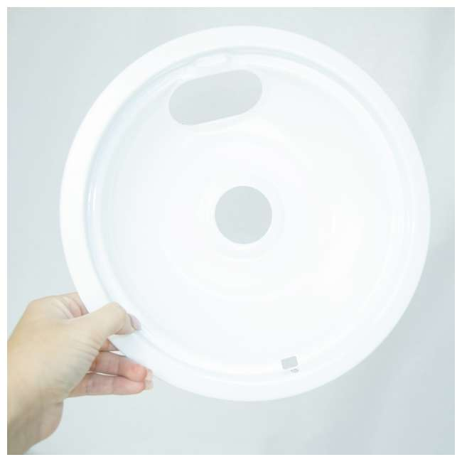 12 x P102W Range Kleen Style A Porcelain Drip Bowl, White (12 Pack) 5