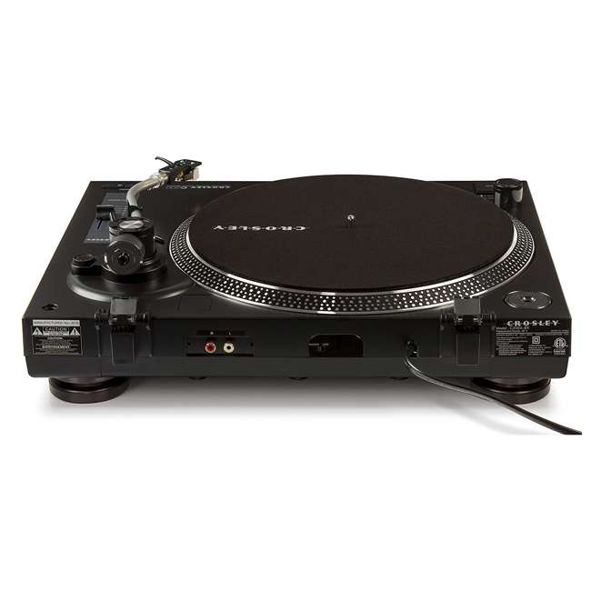 C200A-BK Crosley C200 2-Speed Preamp Record Player Turntable, Black 4