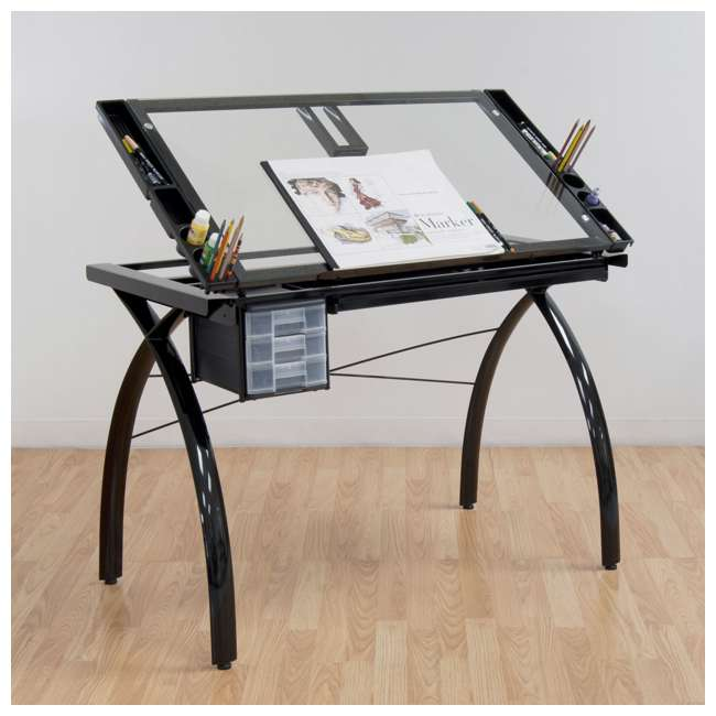 STDN-10072-U-B Studio Designs Futura Adjustable Arts & Crafts Drawing Desk Station (Used) 4