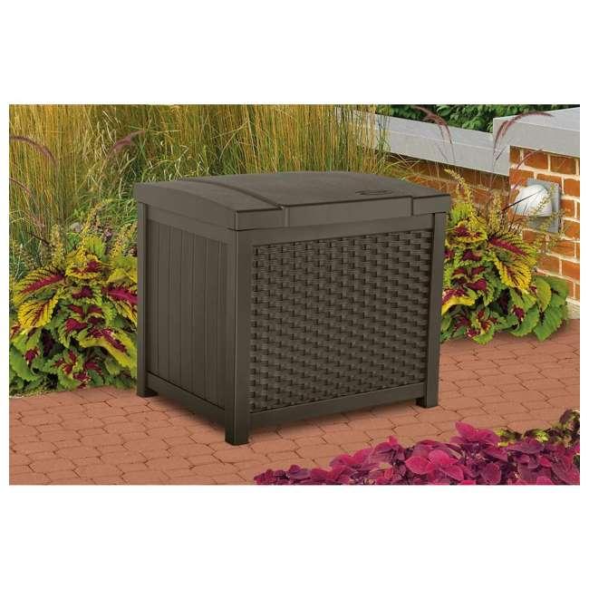 SSW900 + DBW9200 Suncast 22 Gallon Wicker Deck Box w/ Suncast 99 Gallon Wicker Resin Deck Box 2