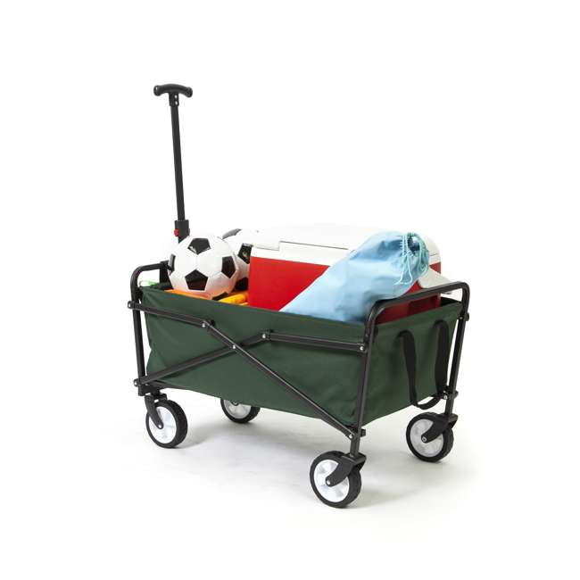 SUW-206-GREEN-U-A Seina Heavy Duty Folding 150 lb Capacity Utility Cart, Green (Open Box) (2 Pack) 5
