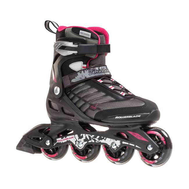 077369009V1-7 Rollerblade Zetrablade Womens W Adult Fitness Inline Skate Size 7, Black/Cherry 1