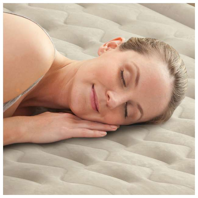 64455EP Intex Ultra-Plush Inflatable Airbed Mattress w/Built-in Pump, Twin  4