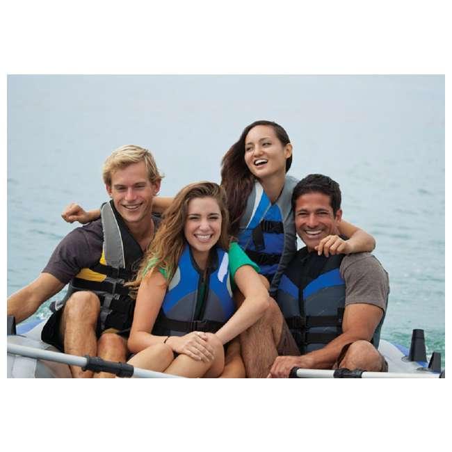 68325VM-U-A Intex Excursion 5 Person Inflatable Fishing Boat Set w/ Oars & Pump (Open Box) 6