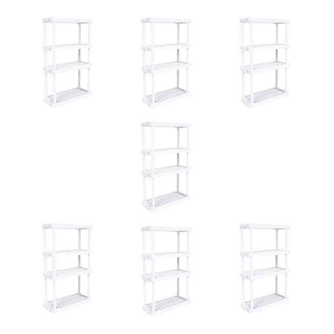 7 x GL91072MAXIT-1C Gracious Living 4 Shelf Tier Storage Shelf, White (7 Pack)