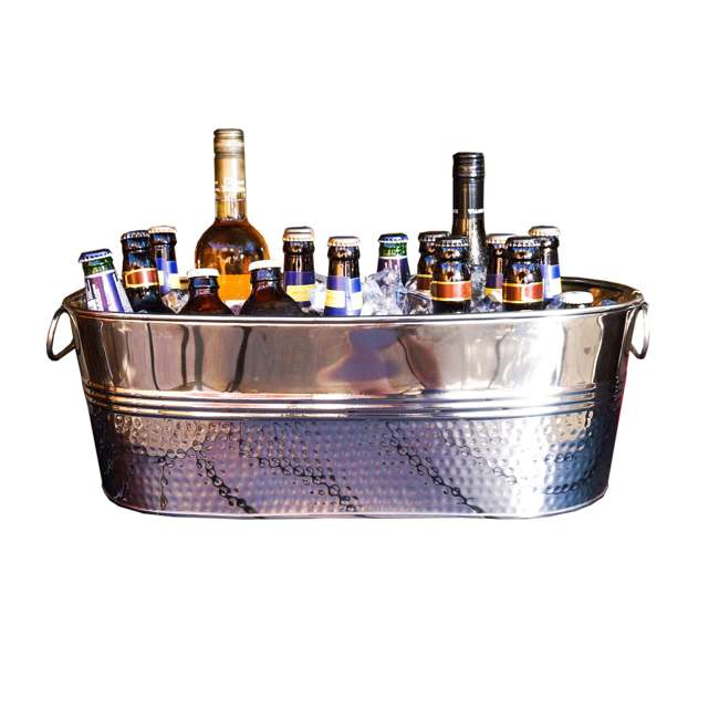 16436x2-U-B BREKX Colt Hammered Stainless Steel Beverage Ice Bucket Tub (Used)