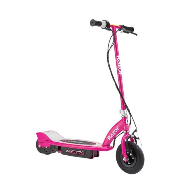 13111269 + 97783 Razor E175 Electrical Kids Scooter in Pink & V17 Sport Helmet in Satin Pink 1