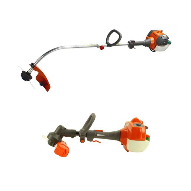 HV-TR-952711952 + HV-TOY-585729102 Husqvarna 2 Cycle Gas Powered Lawn Trimmer & Battery Operated Toy Weed Trimmer