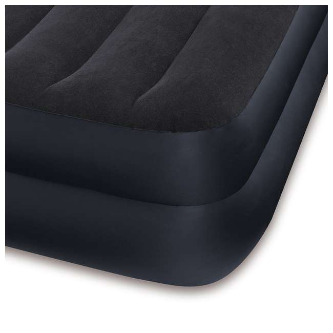 3 x 64121E-U-A Intex Dura-Beam Pillow Rest Airbed with Built-In Pump, Twin (Open Box)(3 Pack) 4