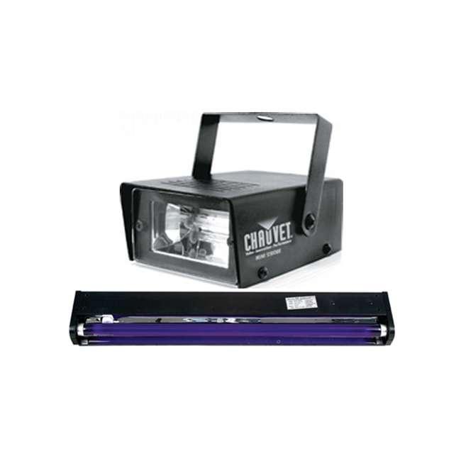 "BLACK-24BLB + MINISTROBE-LED American DJ BLACK-24BLB 24"" UV Black Pro Blacklight + CHAUVET CH-730 Mini Strobe Light"