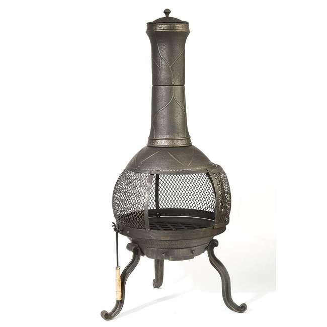 30199 Kay Home Products 30199 Sonora Outdoor Wood Burning Metal Chimenea Fireplace