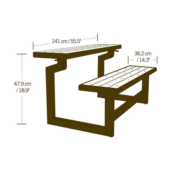 Lifetime Convertible Patio Bench To Table 2 Pack 60139