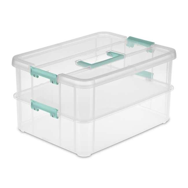 Sterilite-14128606 Sterilite 14128606 Stack & Carry 2 Layer Handle Box (Open Box)
