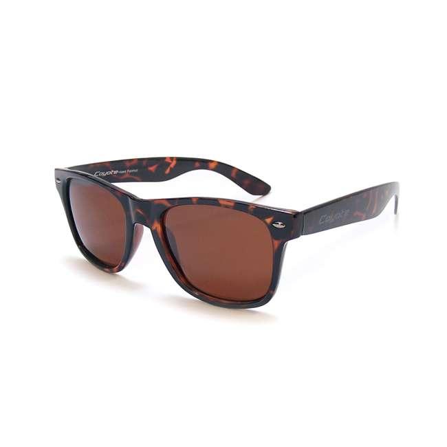 P-23 tortoise/copper Coyote Eyewear P-23 Polarized Wayfarer Premium Sunglasses, Tortoise & Copper