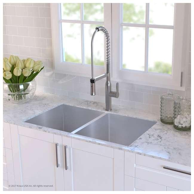 KHU102-33 Kraus 33-Inch Undermount Double Stainless Steel Kitchen Sink (2 Pack) 4