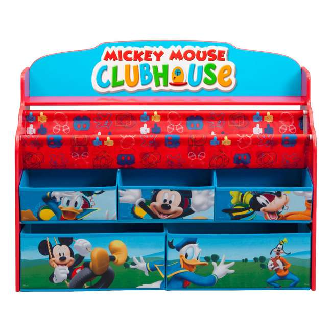 TB84983MM-1051 Delta Children Mickey Mouse Deluxe Book and Toy Organizer 1