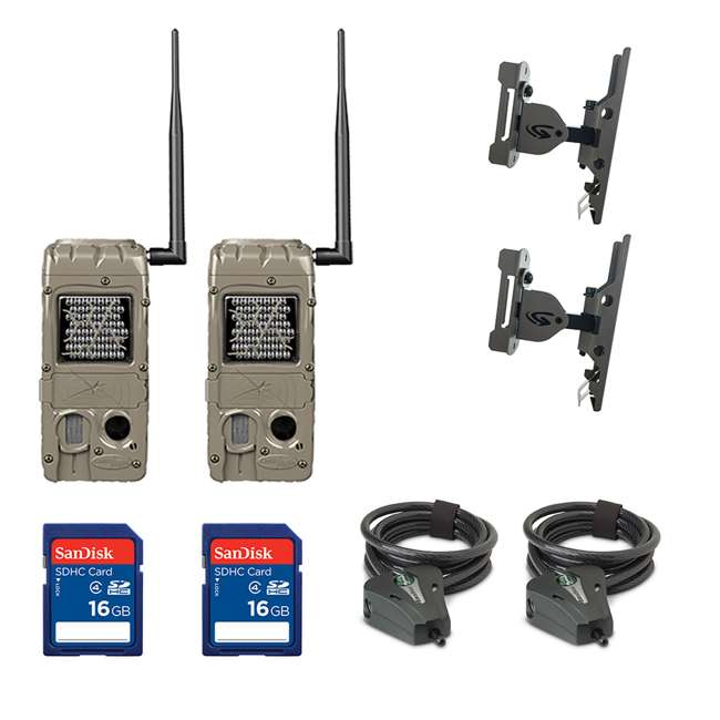 G-5062 +2xSD4-16GB+2x3488-GENIUS-PTL+2xSTC-C Cuddeback Trail Camera (2pk) + 16GB SD Card (2pk) + Mount (2pk) + Cable (2pk)