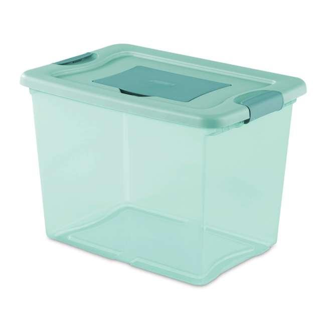6 x 15057Y06-U-A Sterilite 25 Quart Fresh Scent Plastic Storage Box Container (Open Box) (6 Pack)