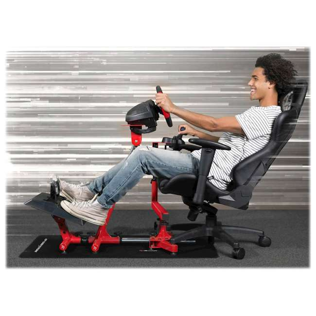 VELOCITA-RED Arozzi Velocità Gaming Full Racing Experience Simulator Chair Stand, White 7