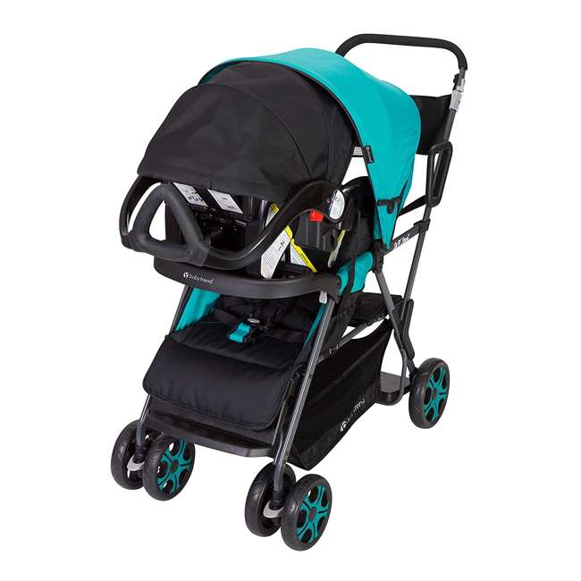 SS80A31A Baby Trend Sit N' Stand Sport Single or Double Baby Toddler Stroller, Meridian 5