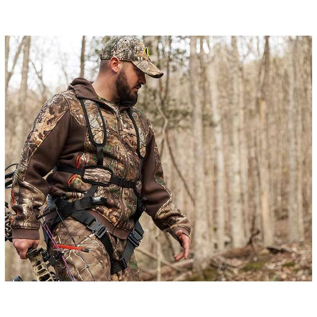 HSS-HTRF023LXL Hunter Safety Systems X-1 Bowhunter Tree Stand Harness, Large/XL 2