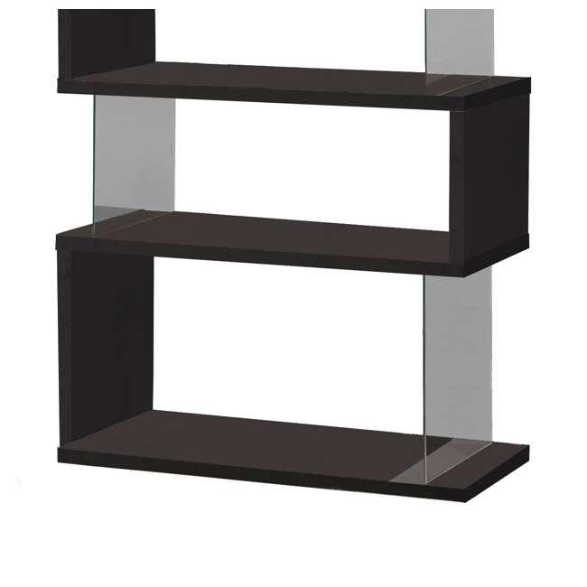 CH-800340-U-B Coaster Home Furniture Asymmetrical Snaking Living Room Bookshelf, Black (Used) 3