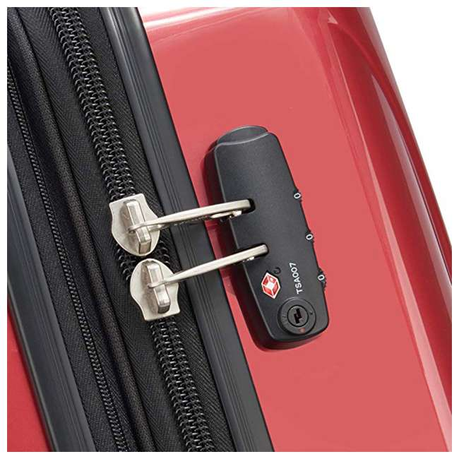 07644RD DELSEY Paris Helium Aero Expandable Rolling Carry On Luggage Suitcase, Brick Red 4