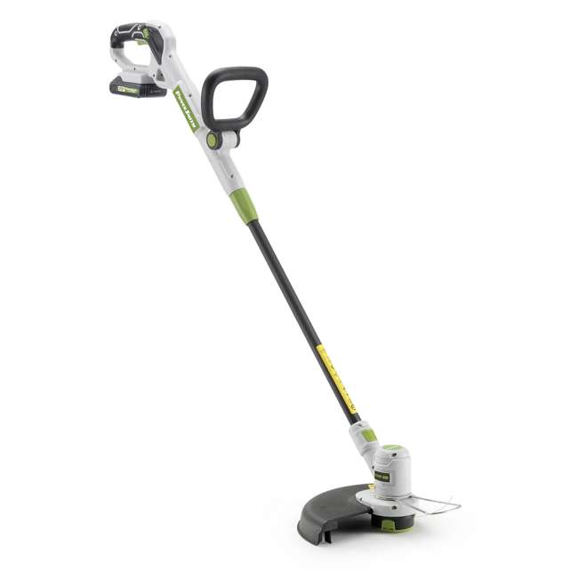 PGT120 + PLB12040 PowerSmith 20V Max Cordless Battery Powered Lawn String Trimmer w/ Extra Battery 4