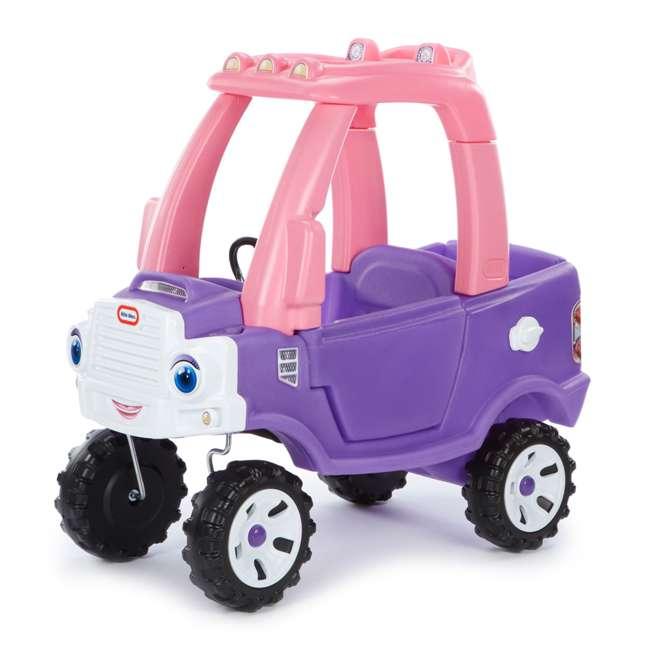 642777M-U-A Little Tikes Pink and Purple Princess Cozy Kids Ride On Truck (Open Box) 4